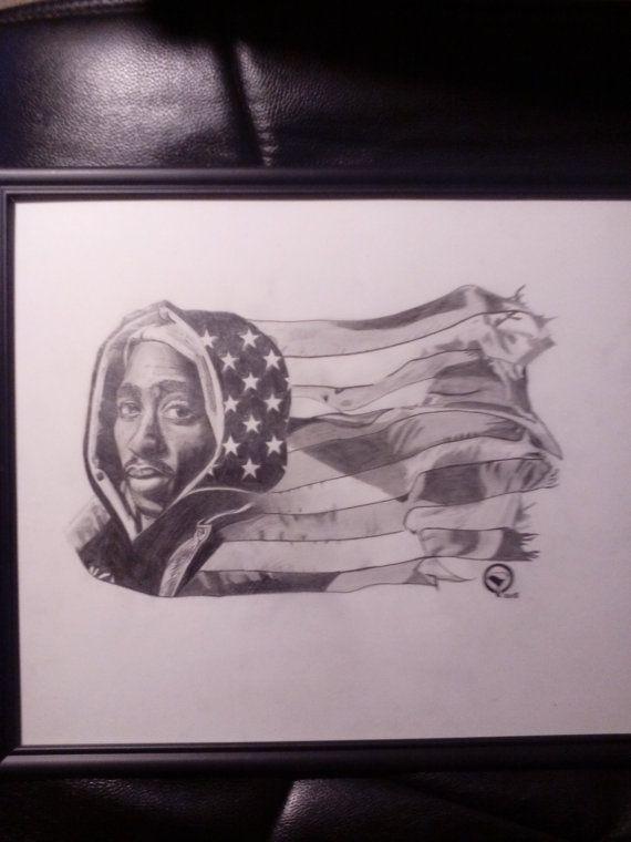 Items similar to tupac black america on etsy