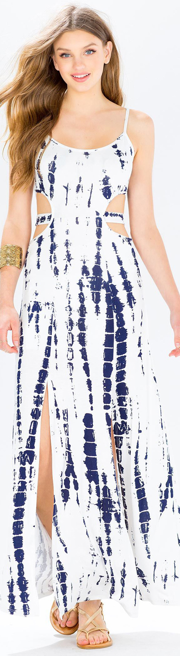Blue Crush Tye Dye Maxi