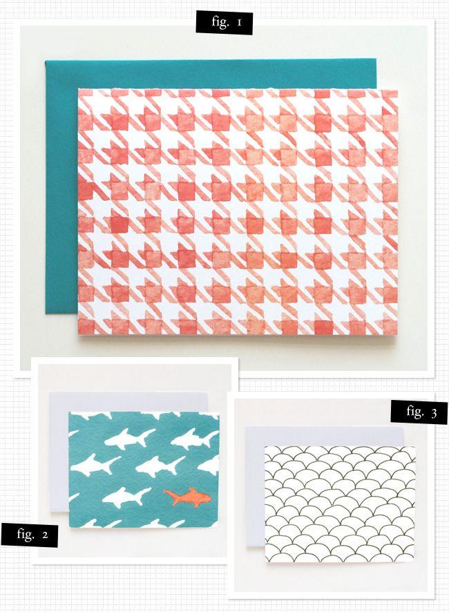 Ejemplos de patrones en tarjetas.
