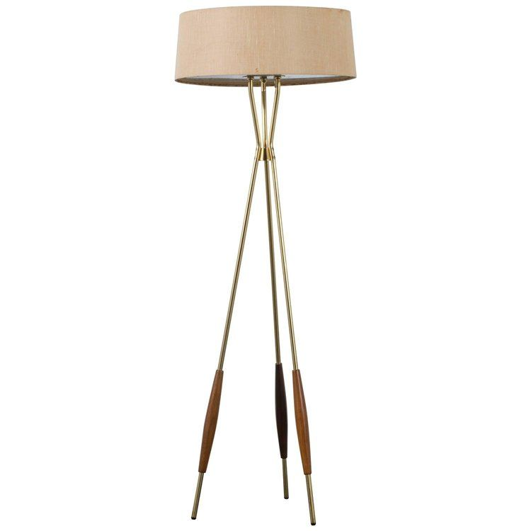 This vintage Mid-Century floor lamp was designed by Gerald Thurston ...