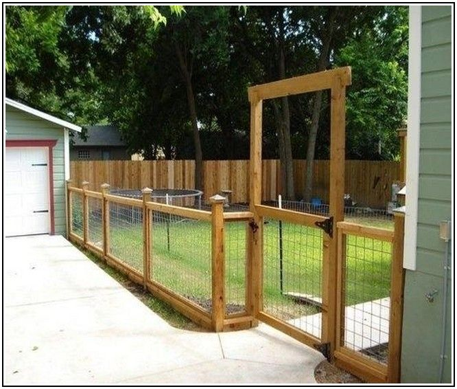 Wire And Wood Fence Designs in Fence for Home Yard Pinterest