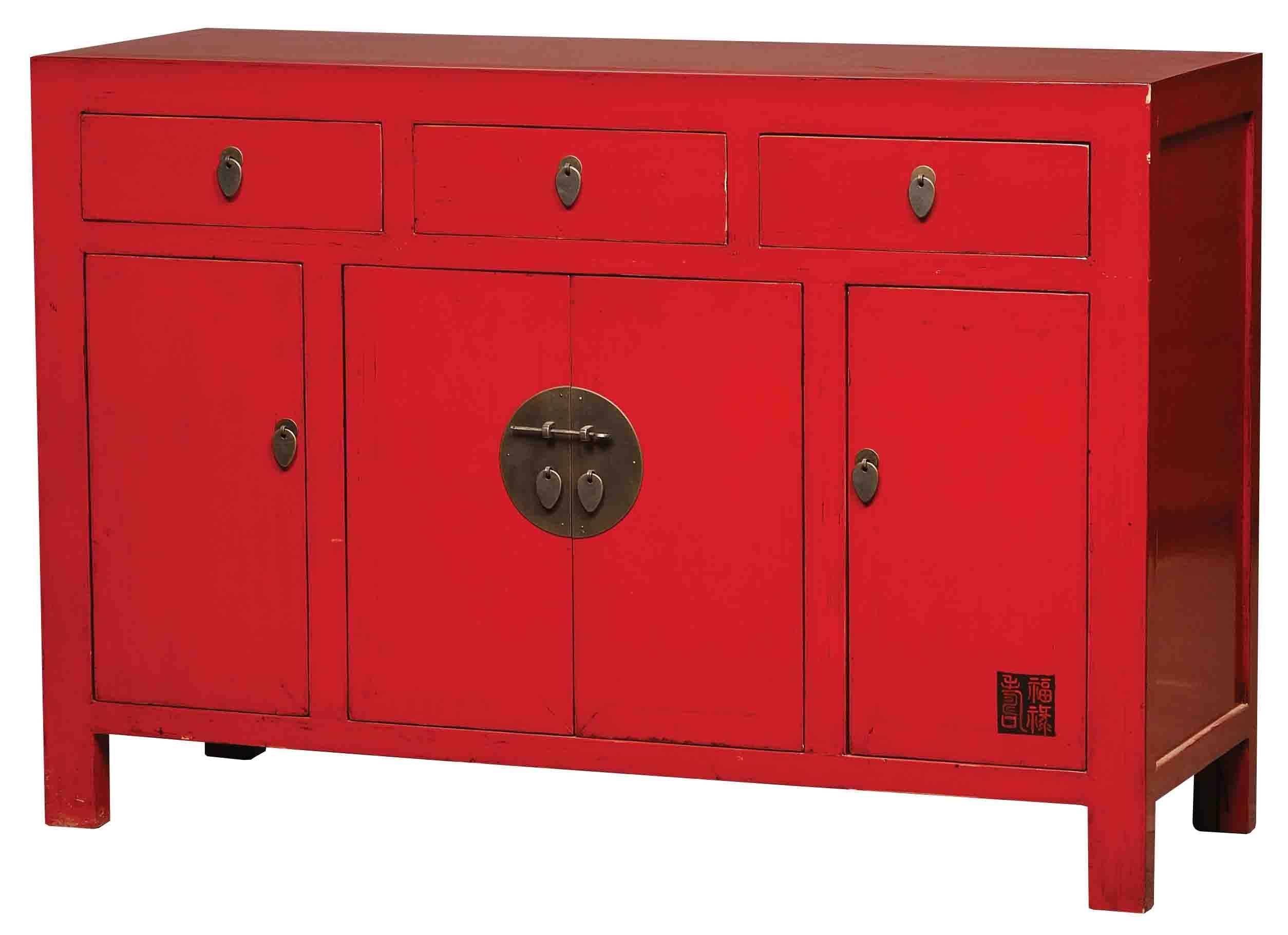 De Kleur Rood : Chinees dressoirtje cm breed leverbaar in de kleuren zwart wit