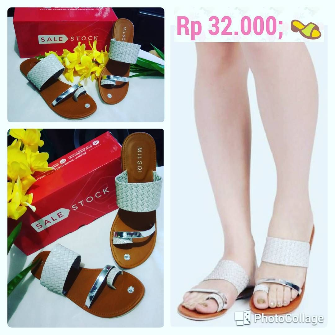 df52e170d10034 Milsqi Webbing Strap Sandals - Cream Ready size   38 Price   Rp 32.000  Produk asli dari  Sale Stock  ya sist kita jual cuma setengah harga aja  lohh Yuk di ...