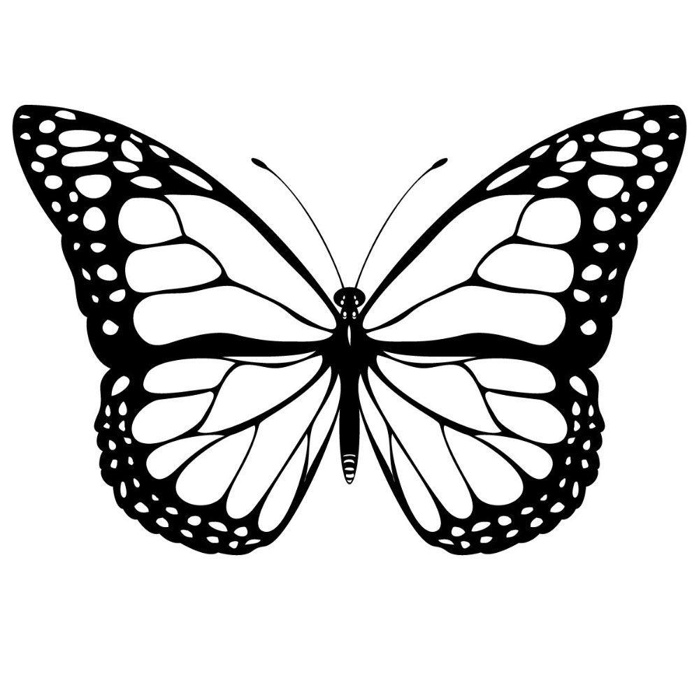 Dibujos de mariposas en blanco y negro | Silhouettes | Pinterest ...