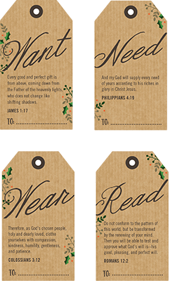 printable tags with bible verses for 4 christmas gifts something they want need wear and read