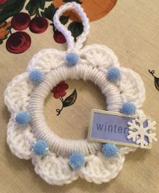 Photo of Creative search: white crochet wreath ornaments