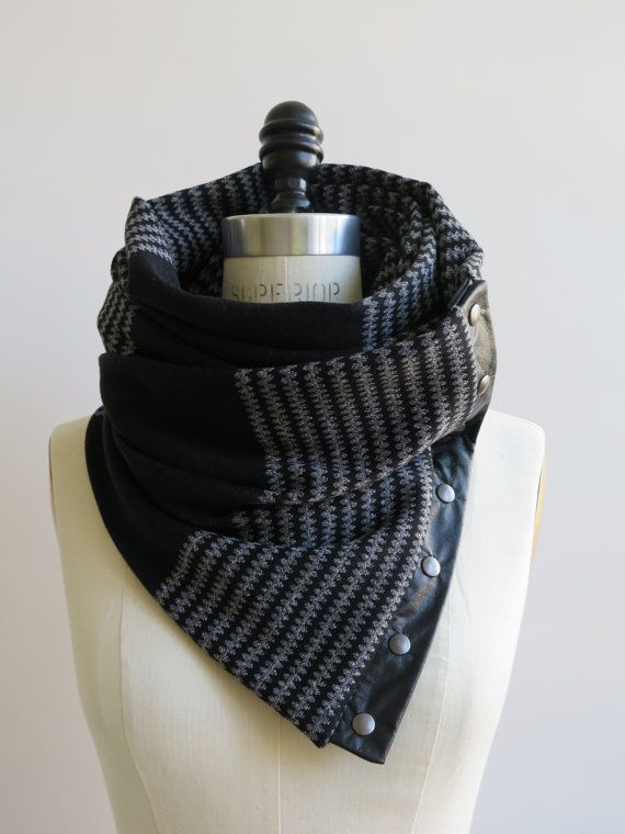 Black and gray Chunky circular infinity scarf | Infinito, Gris y Negro
