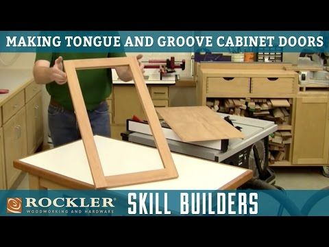 Tongue And Groove Cabinet Doors With A Table Saw Wood Working