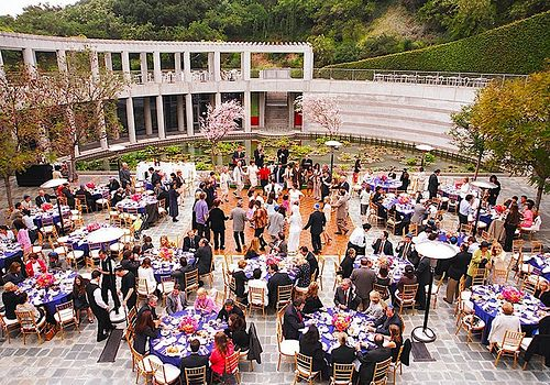 Skirball Cultural Center Wedding Reception On The Beautiful Taper Courtyard