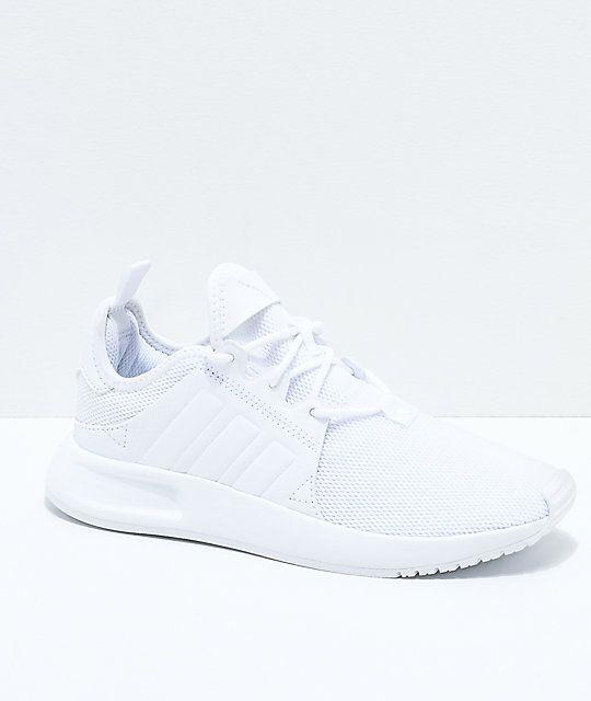 low priced 11d5b de31e adidas Xplorer All White Shoes