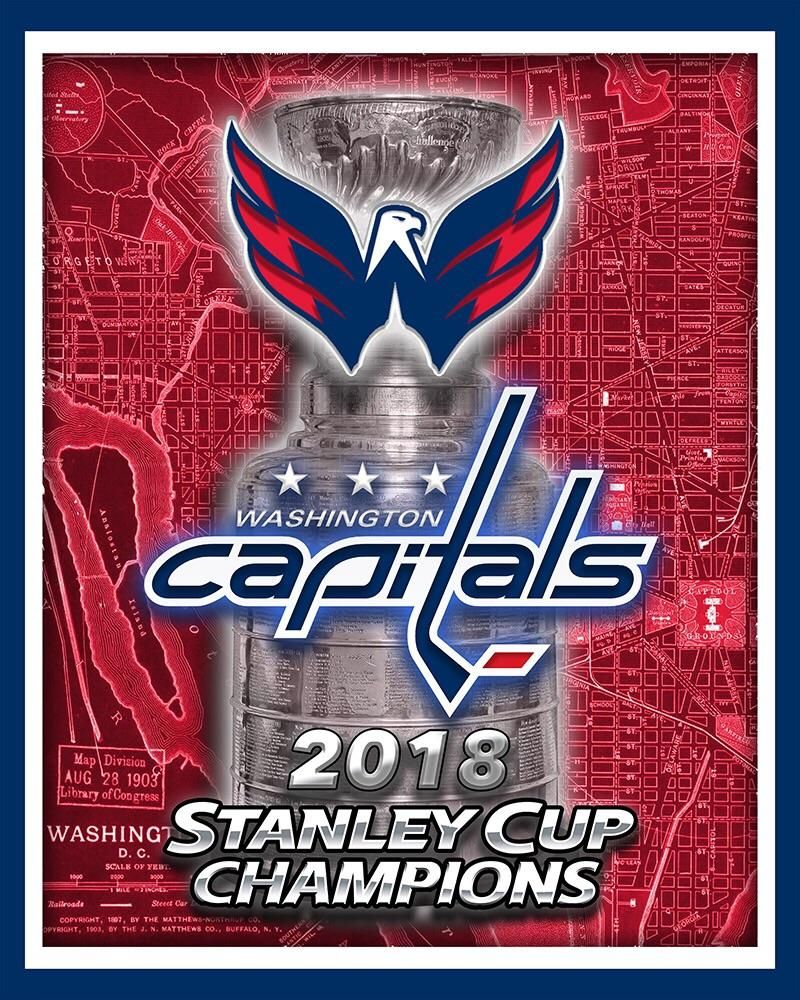 4c4354aa8 WASHINGTON CAPITALS 2018 Stanley Cup Championship Map Poster – McQDesign