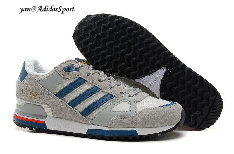 1d3635a65f97b Adidas Originals ZX 750 men shoes running grey steel clear blue   white HOT  SALE! HOT PRICE!