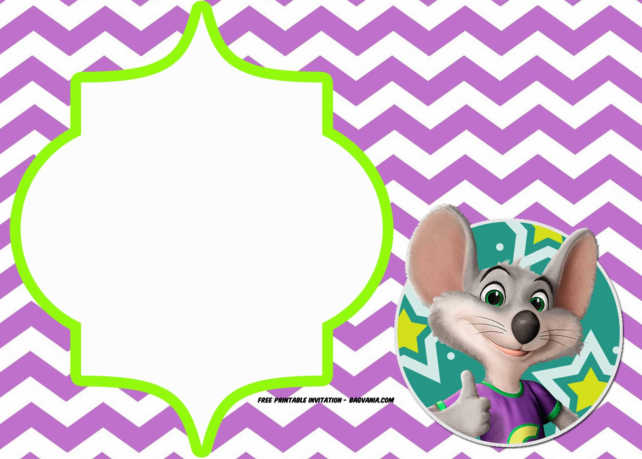 Cool FREE Printable Chuck E Cheese Invitation Templates