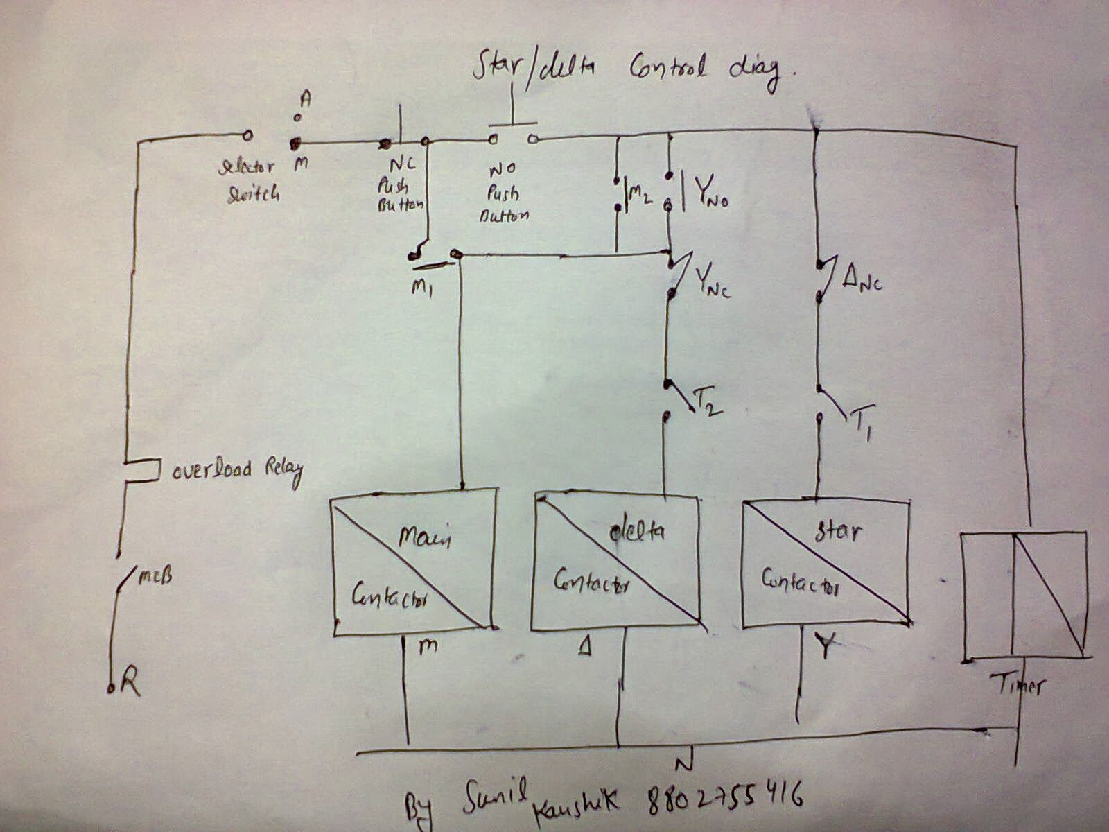 Star Delta Wiring Diagram Motor Gibson Mini Humbucker Electrical Contactor Additionally