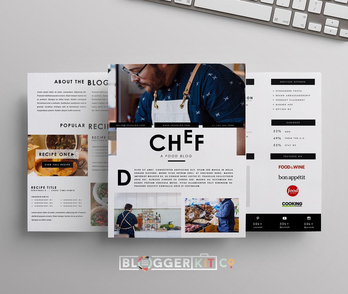 Chef Media Kit Template Press Kit Template