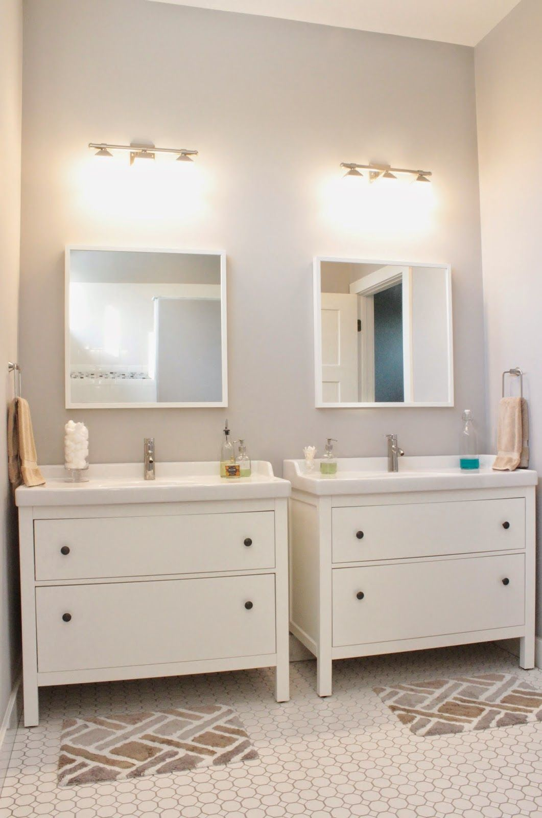 Side By Side Hemnes Sink Cabinets For Girls Or Double