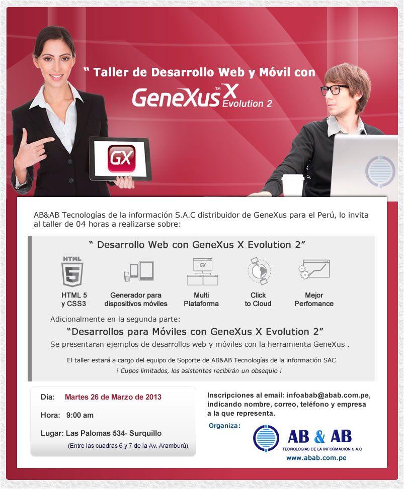 Taller de desarrollo Web y Móvil con GeneXus X Evolution 2
