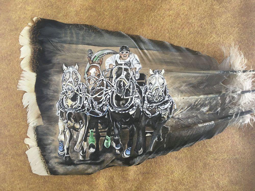 Artist Brenna Sweeney Title The Race Outdoor blanket