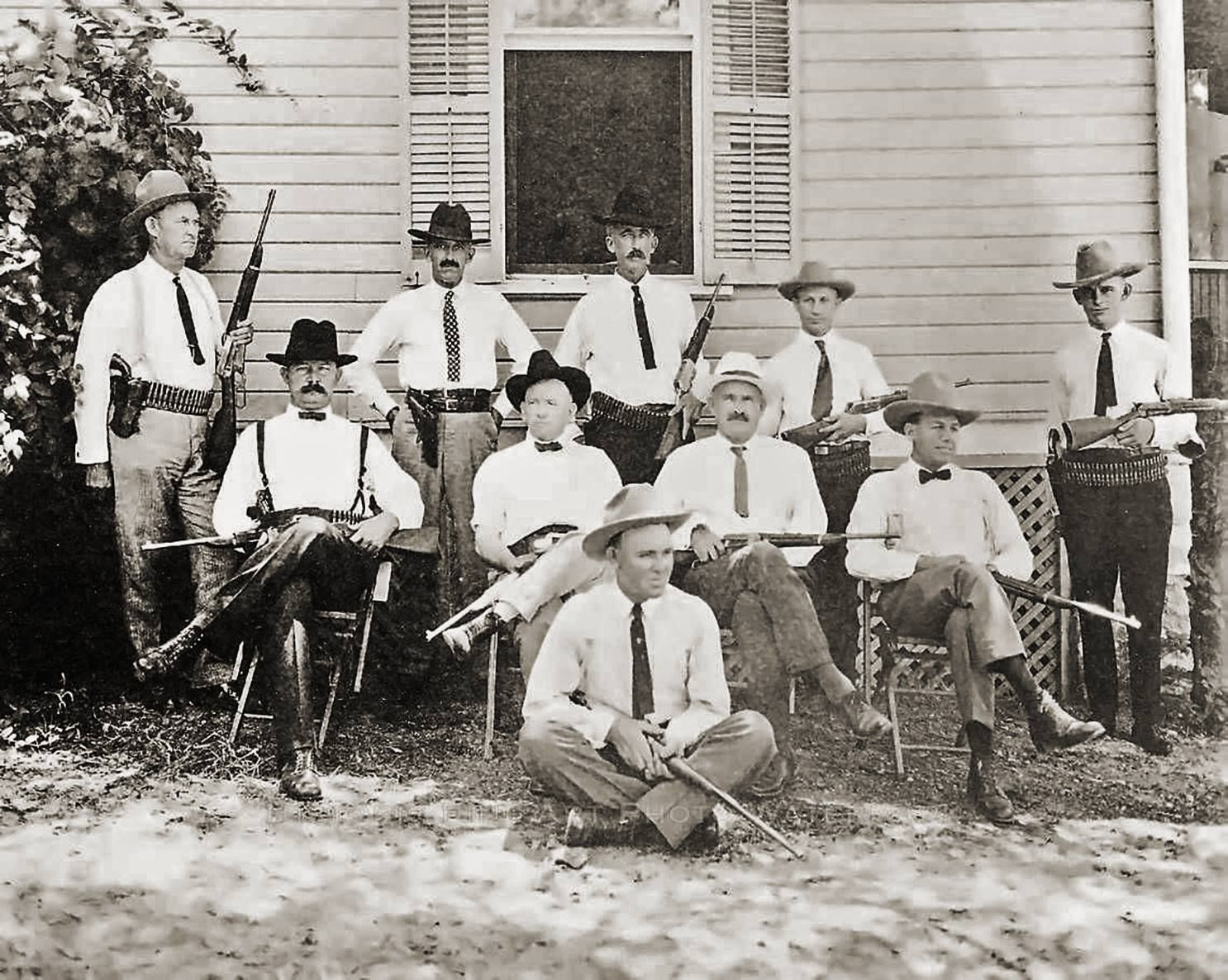 A group of Texas Rangers in south Texas, circa 1915, Traces of Texas