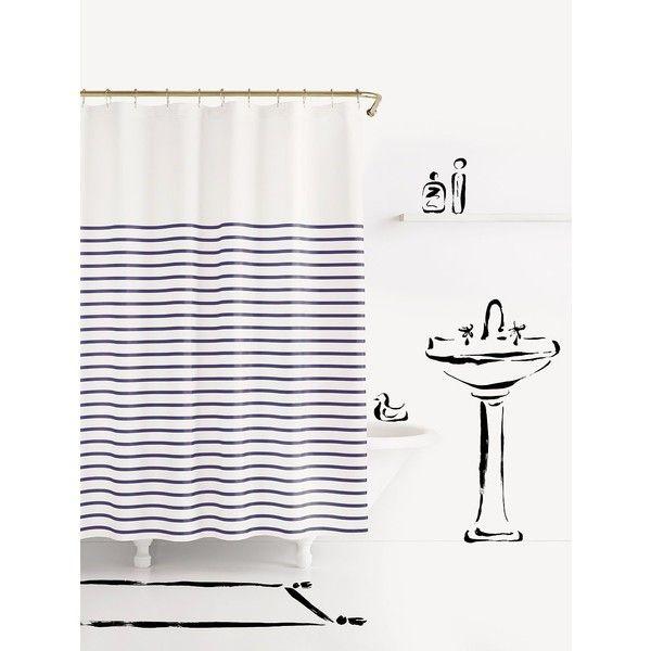 kate spade charlotte street shower curtain ($50) ❤ liked on