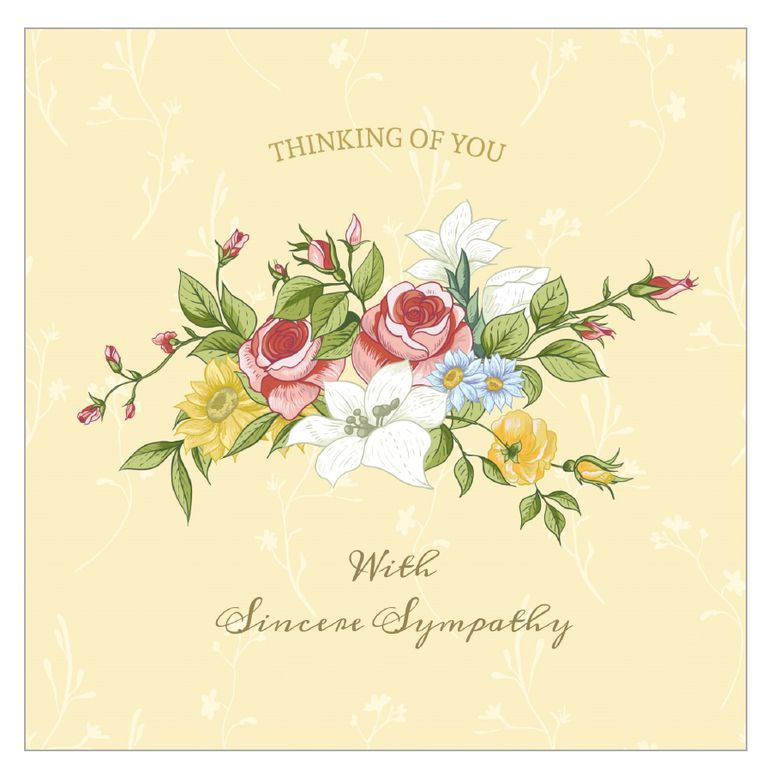 graphic relating to Sympathy Card Printable named 11 Cost-free, Printable Sympathy Playing cards for Any Reduction Printable