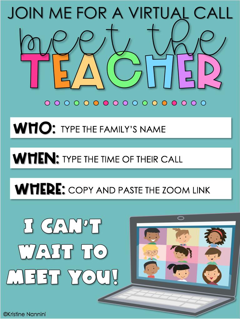 How To Plan A Virtual Meet The Teacher Open House Young Teacher Love In 2020 Meet The Teacher Digital Learning Classroom Letter To Teacher