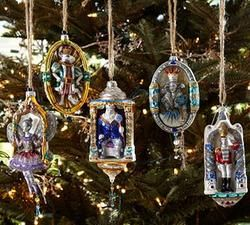 Nutcracker Suite Glass Ornaments, Set of 5  $54.99#pintowinGifts & @Gifts.com