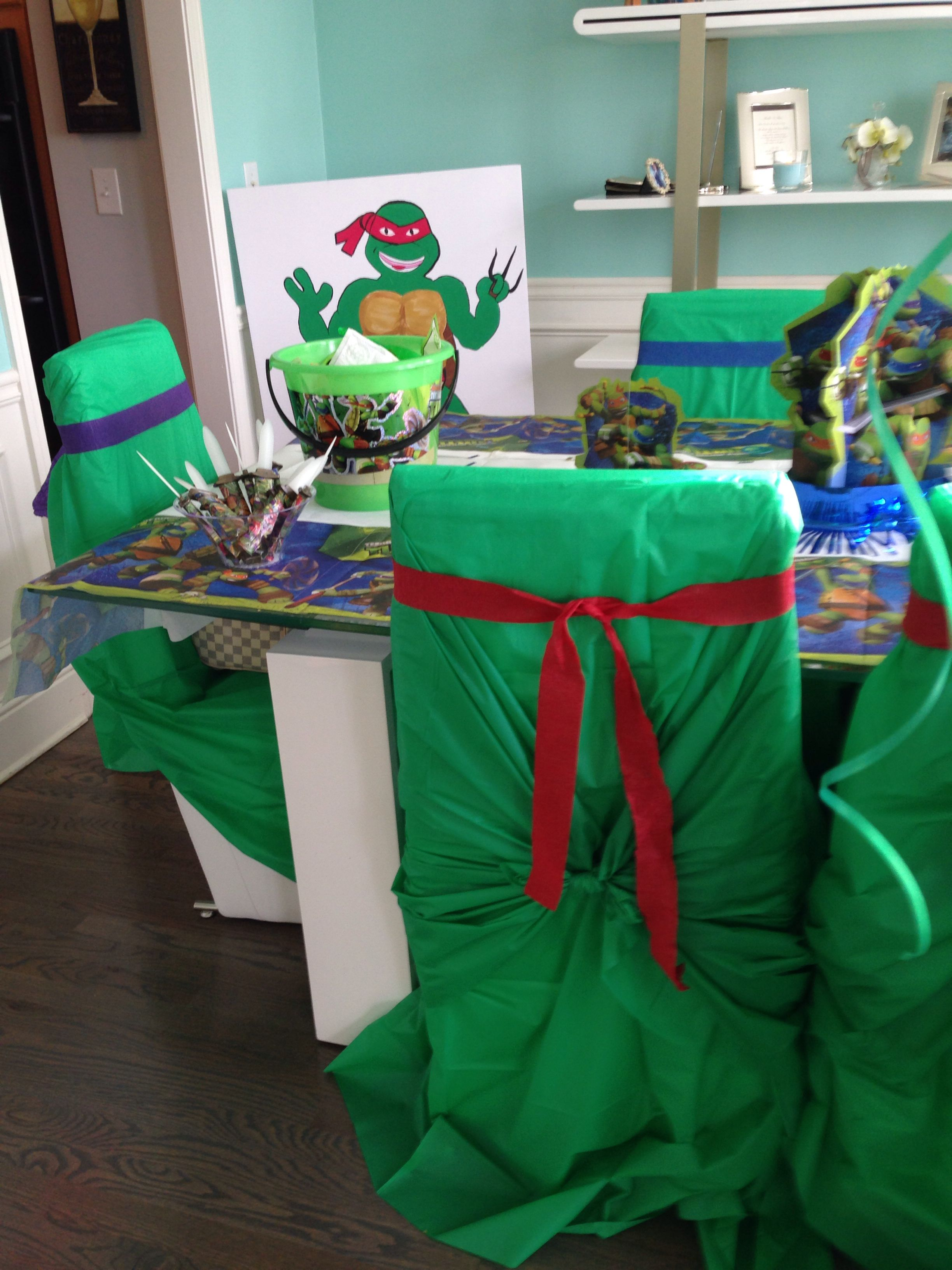 Ninja Turtles Chair Beach Umbrella With Clamp Turtle Covers Birthdays And Parties