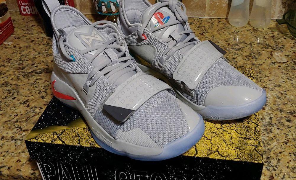 b7b4eba0b9132 Nike PG 2.5 Playstation Size 10 Paul George Limited Edition Grey ...