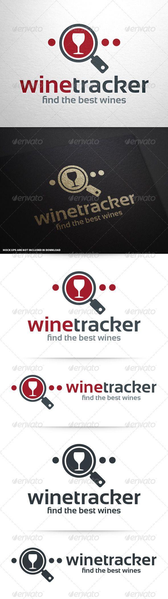 wine tracker logo template pinterest logo templates