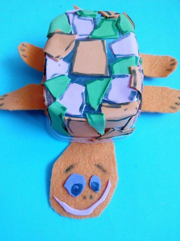 Zolwik Praca Plastyczna Z Folii Piankowej I Plastikowego Pojemniczka Sugar Cookie Turtle Cookies