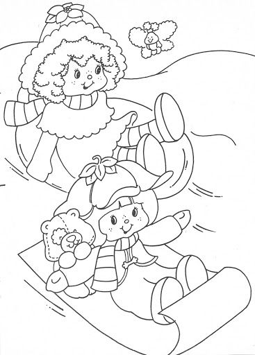 USED COLORING BOOK~Strawberry Shortcake Christmas Fun - Bonnie Jones ...