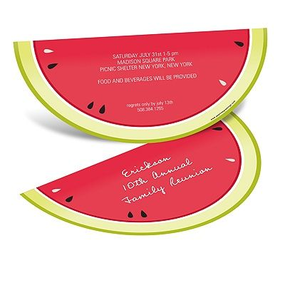 Wet 'N Wild Watermelon -- Summer Party Invitations