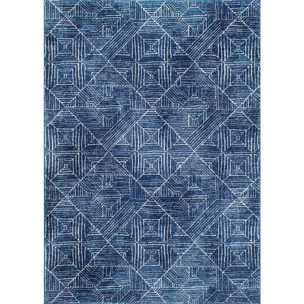 nuLOOM Vintage Wendolyn Blue 2 ft  8 in  x 8 ft  Runner is part of Coastal decor 2018 - Select the NULOOM 2 ft  8 in  x 8 ft  Area Rug to enhance your home  This rectangular rug is designed with blue elements, upgrading the color scheme of your room with a cool touch  It has a geometric print, which is an excellent choice, creating clean lines to accent your interior design  Designed with polypropylene, it will offer unbeatable style and underfoot comfort to your decor