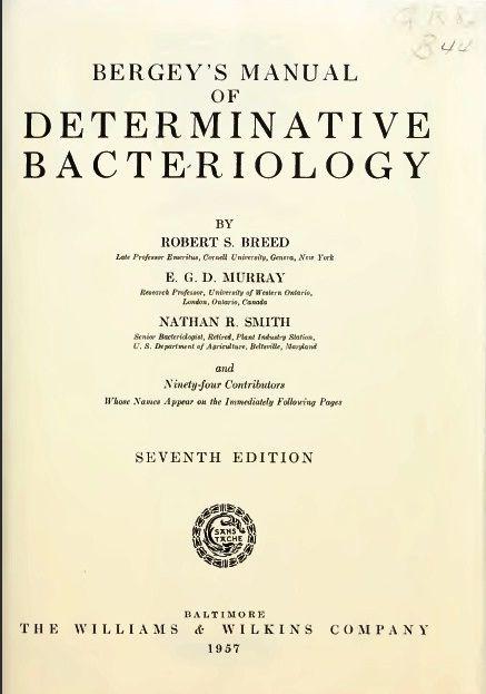 veterinary ebook bergey s manual of determinative bacteriology rh pinterest com bergey's manual of determinative bacteriology 9th edition bergey's manual of determinative bacteriology 9th edition