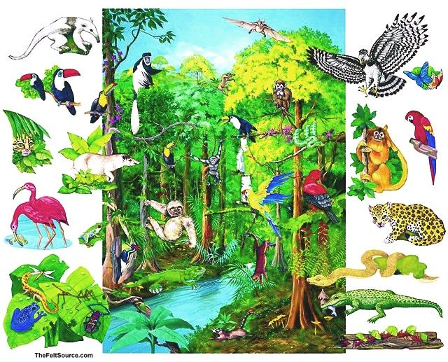 rainforest background - Google Search | to paint -- animals ...