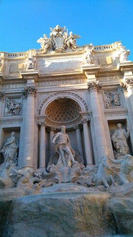 Fontana di Trevi en Roma, Lazio