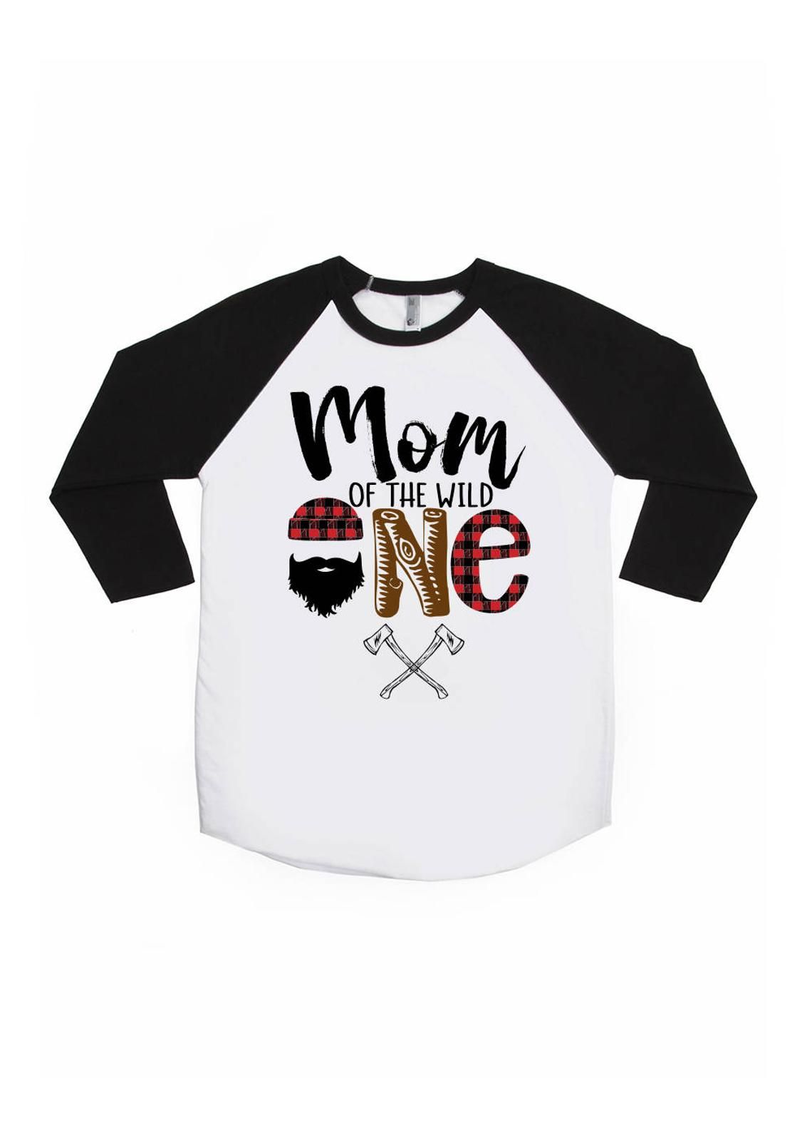Mom of the Wild One Lumberjack Birthday Shirt ONE Birthday