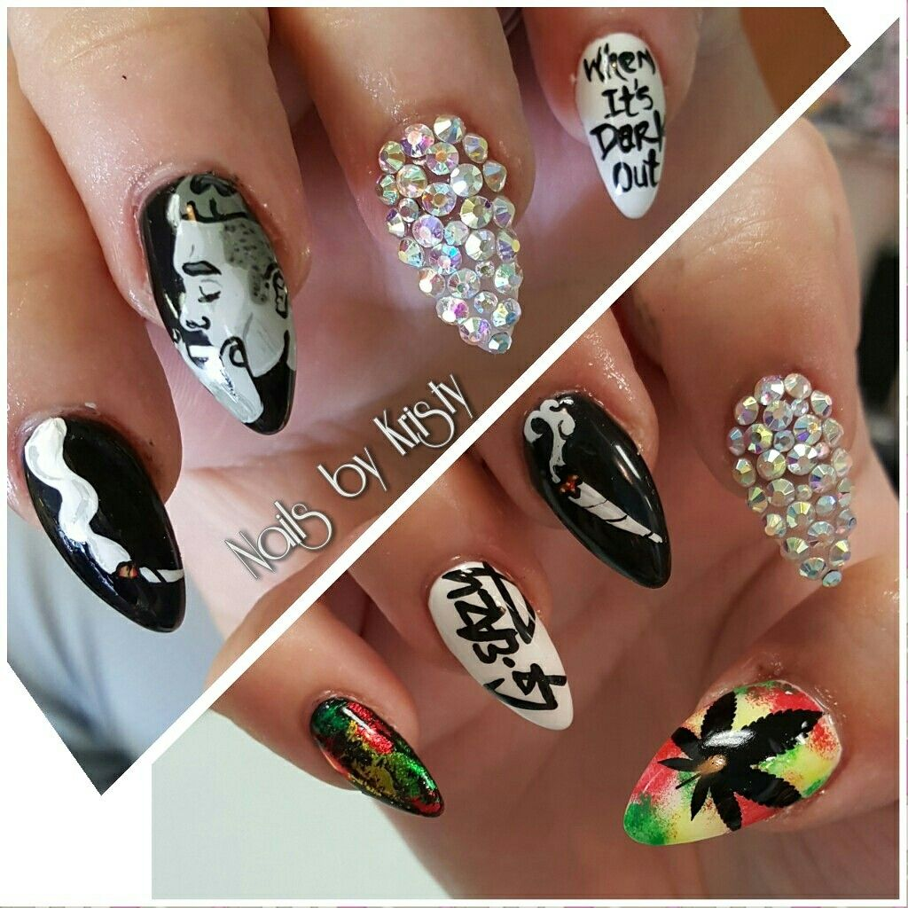G-eazy acrylic bling stiletto nails nail art | nails | Pinterest ...