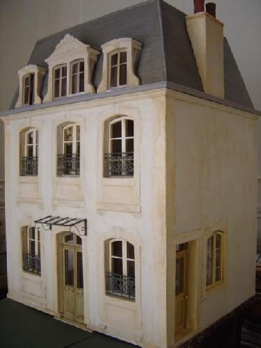 French Miniature House Facade Wow This Site Is Full Of