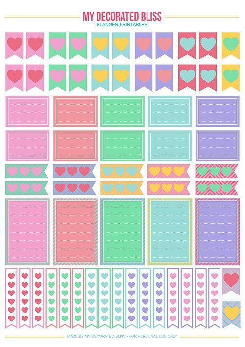 My Calendar Planner : My decorated bliss mambi create happy planner free