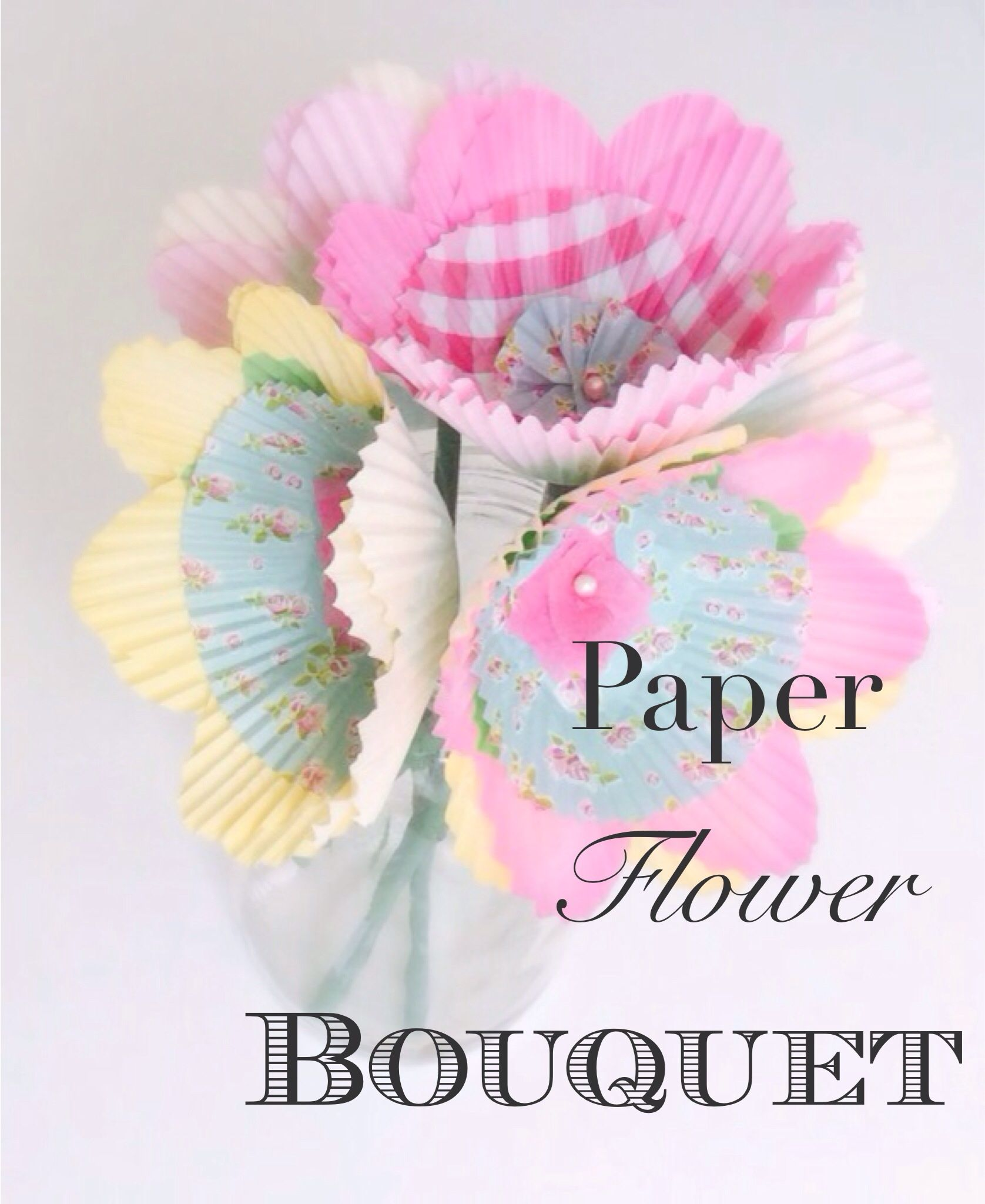 Paper flower bouquet diy crafts pinterest flower bouquets easy paper craft great idea for a fun rainy day paper flower bouquet izmirmasajfo