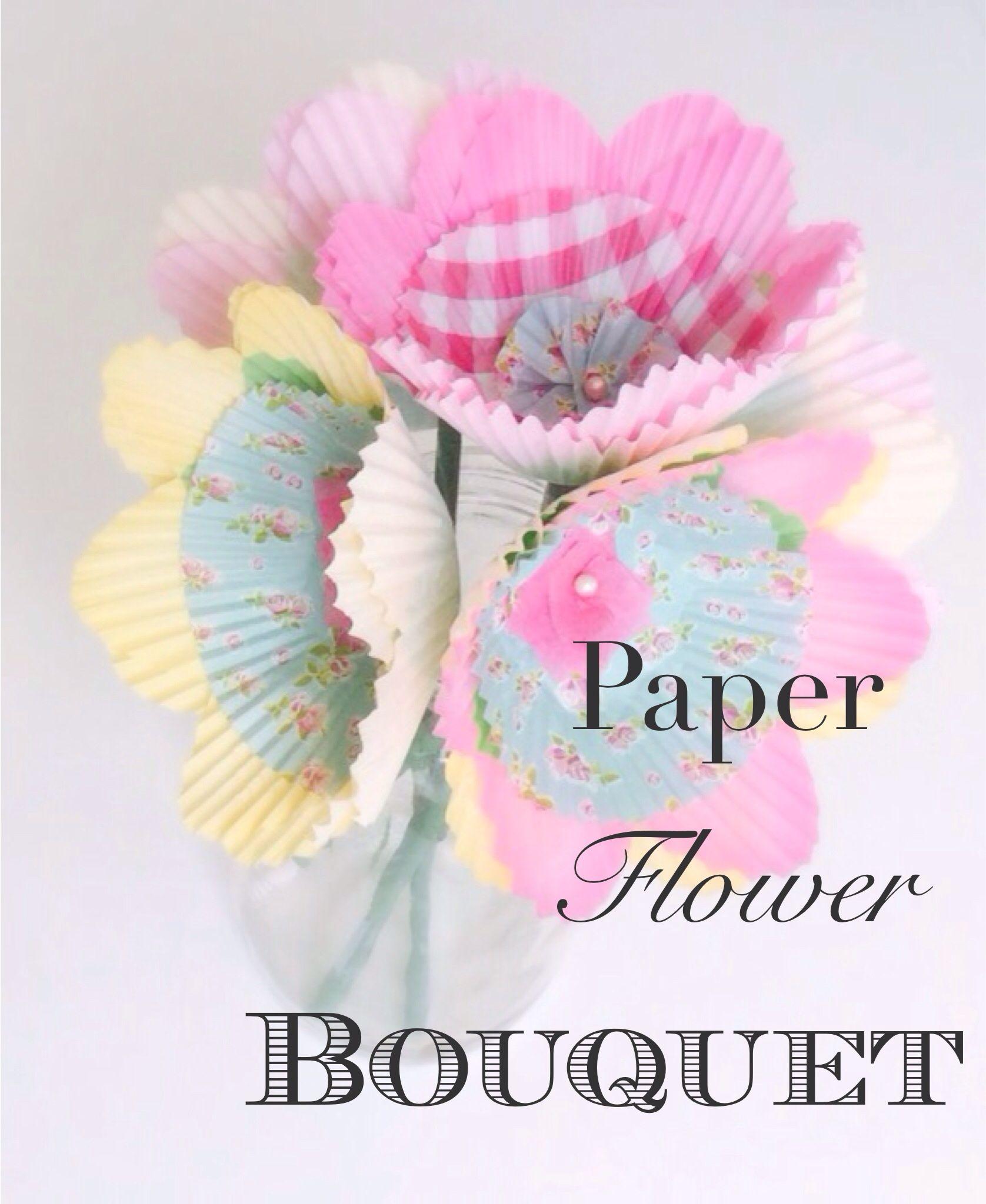 Paper Flower Bouquet Diy Crafts Pinterest Flower Bouquets