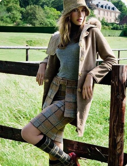 Fashion Vogue Plaid Garden