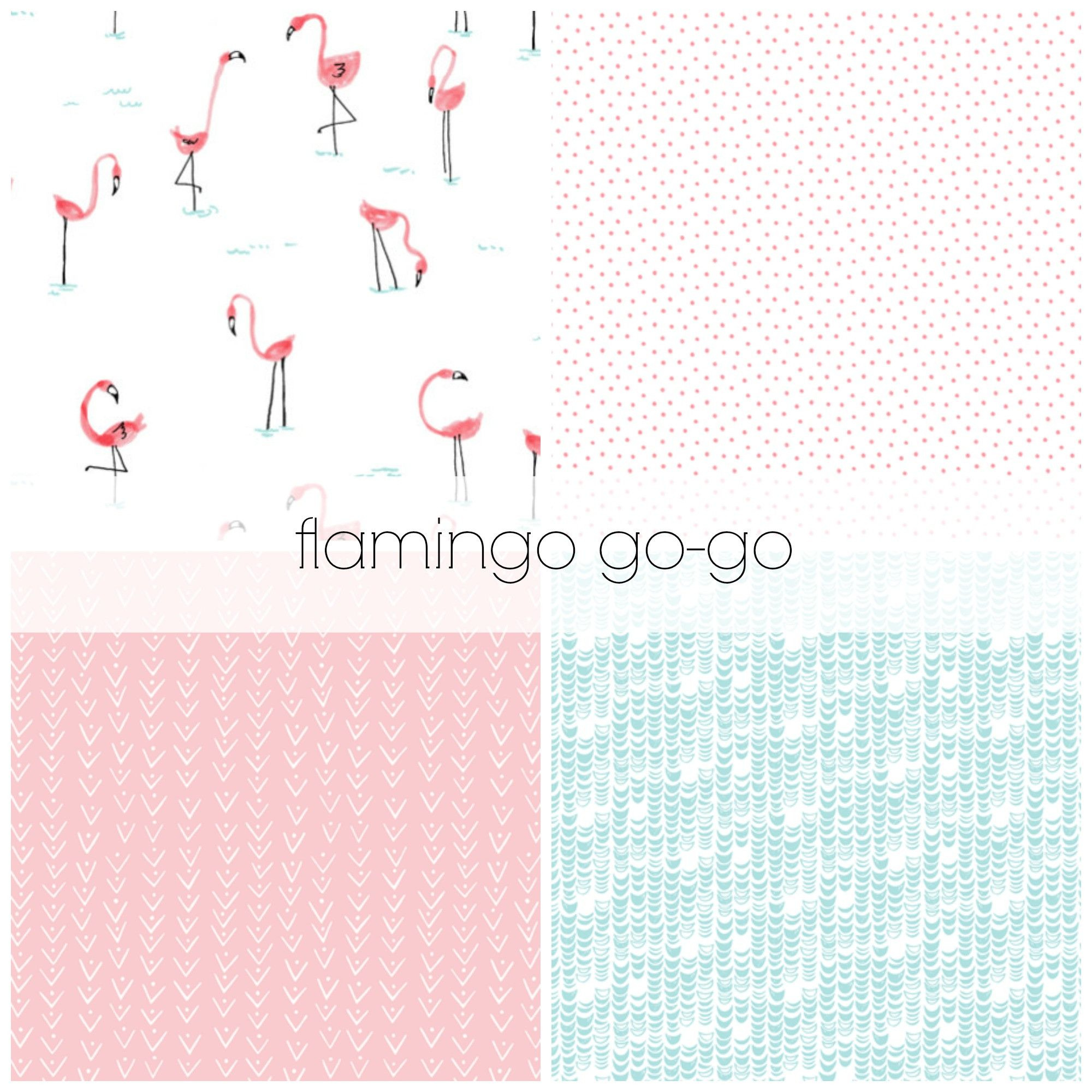 Gocrib adventure crib for sale - Flamingo Go Go Crib Bedding Set