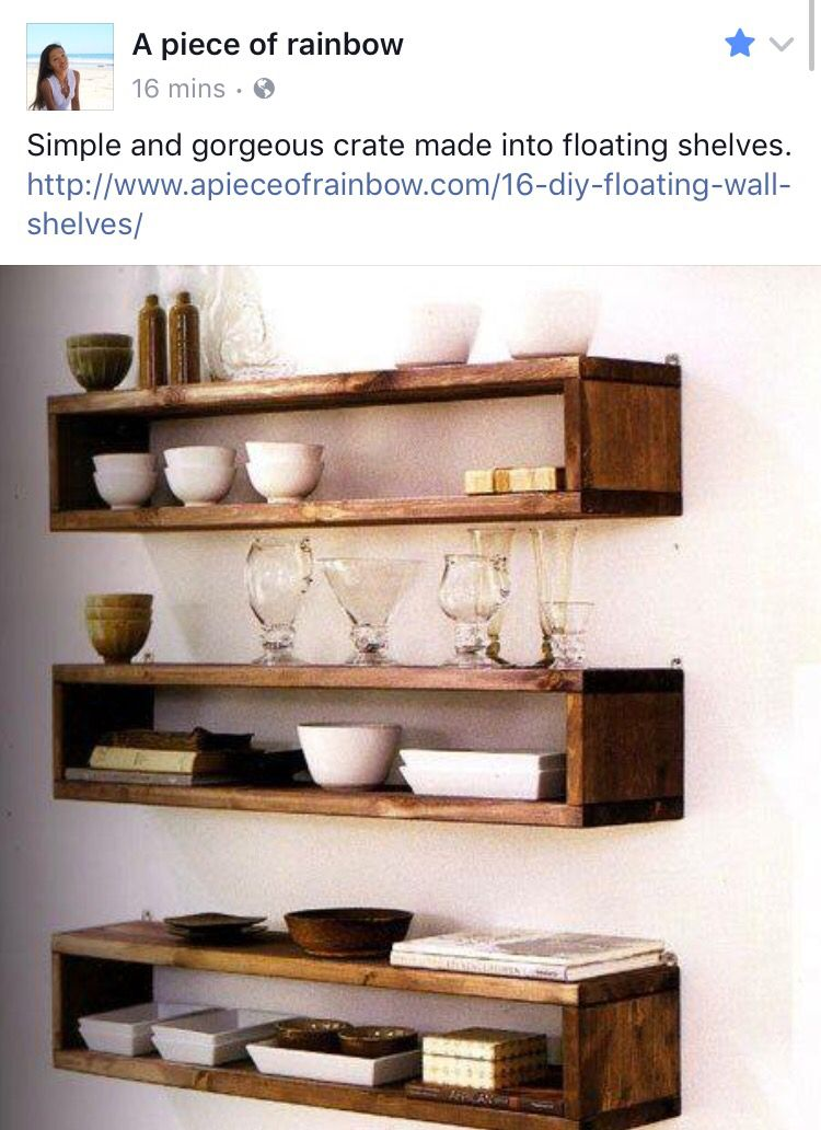 Pin By Rachel Ford On Kitchen Ideas Floating Shelves Diy Wood