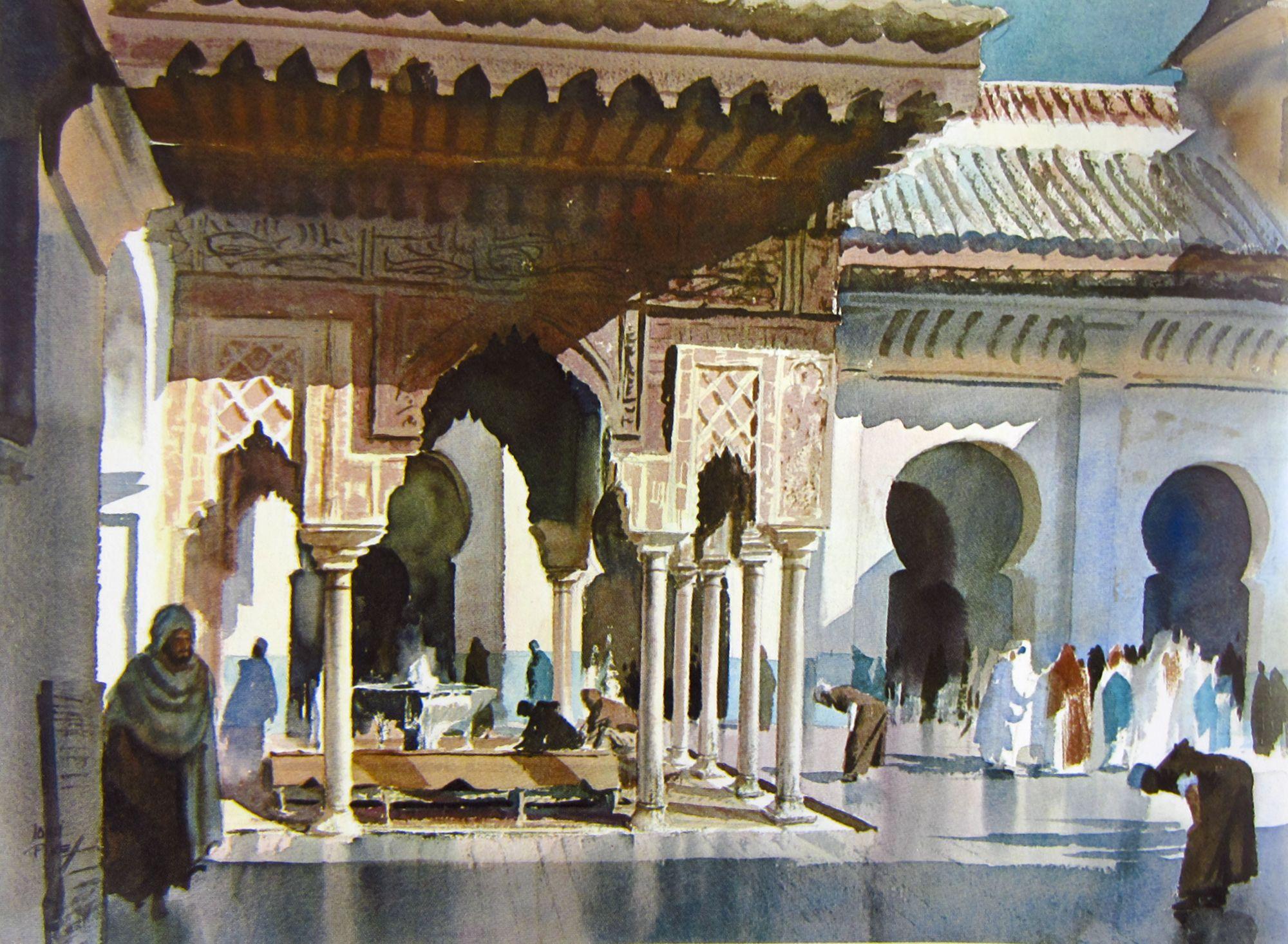 History of watercolor art - John Pike Watercolor Batik Artwatercolor Artcityscapesart History