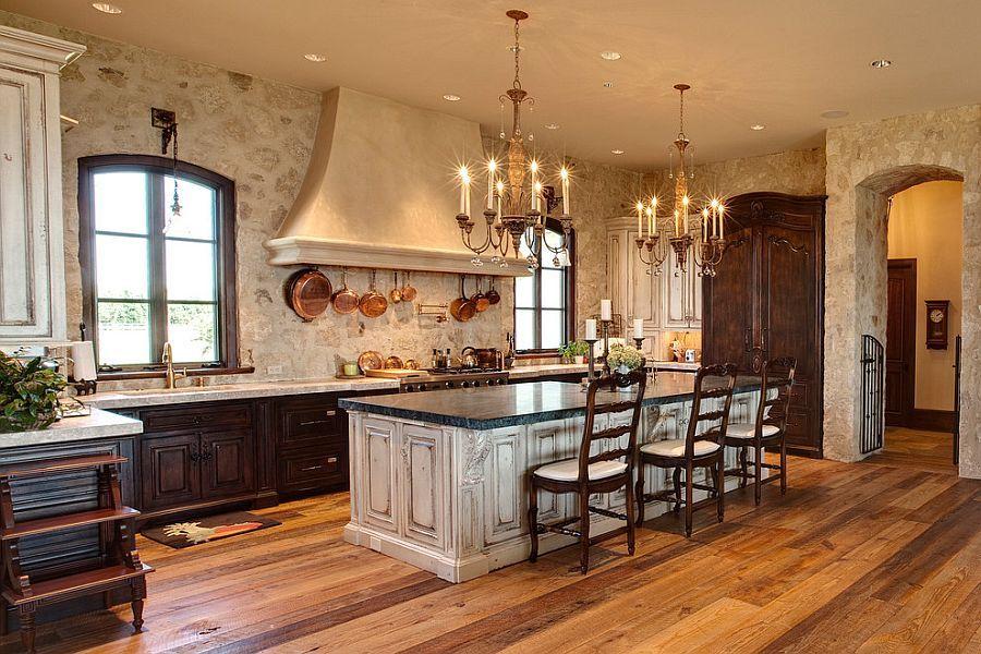 30 Inventive Kitchens With Stone Walls Stone Kitchen Design Mediterranean Kitchen Design Mediterranean Kitchen