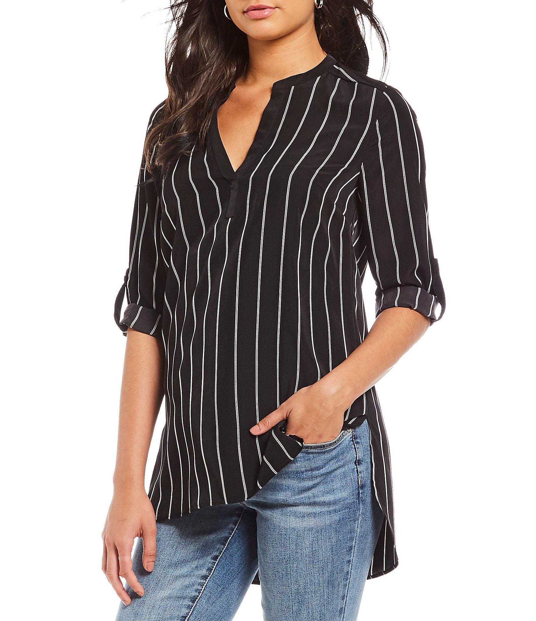 29abe1743fe Shop for Gibson   Latimer V-Neck Striped Tunic at Dillards.com. Visit