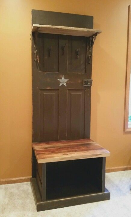 Remarkable Entryway Coat Rack Shoe Storage Bench Made From Reclaimed Gmtry Best Dining Table And Chair Ideas Images Gmtryco